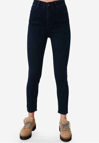 Trendyol blue High Waist Skinny Jeans CAAF2AA54CBAB4GS_1