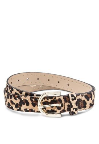 豹紋印花腰帶zalora時尚購物網的koumi koumi, 飾品配件, 皮革