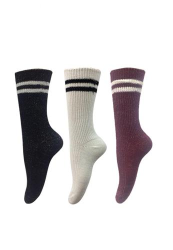 Chase Fashion multi Metallic Varsity Socks 947D5AA52A693CGS_1