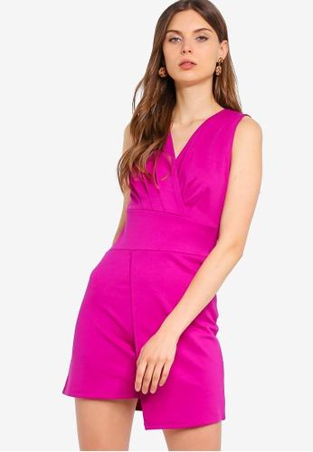 ZALORA 粉紅色 無袖洋裝 93414AAC1B8428GS_1