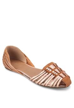 Hola Huarache 多帶交織平底鞋