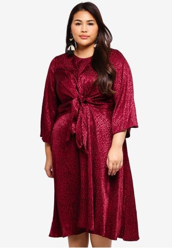 17cf8e9a2951 Buy Eloquii Plus Size Woven Knot Dress Online on ZALORA Singapore