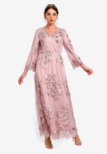 d371c3302 Buy Zalia Embroidered Lace Wrap Dress Online on ZALORA Singapore