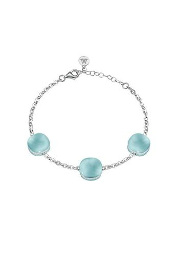 Morellato blue Gemma Bracelet SAKK83 925 Silver Crystal Cat Eye 860F9AC9EF1154GS_1