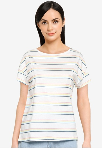Springfield multi Printed Shoulder Buttons T-Shirt D93E7AA67D856AGS_1