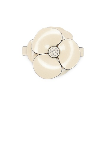Glamorousky white Fashion and Elegant Light Yellow Camellia Large Hair Slide with Cubic Zirconia 7D5B2AC1CE5CF5GS_1