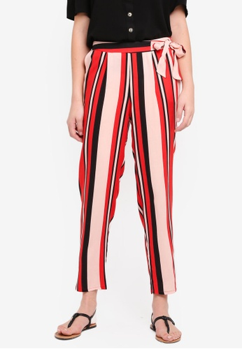 Dorothy Perkins red Red Stripe Joggers 03925AAC7F3546GS_1