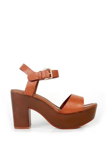 London Rag brown Honey Heel Sandals FF956SH548C7F3GS_1