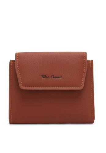 Wild Channel brown Women's Bi Fold Wallet 6125BACB3D4AD1GS_1