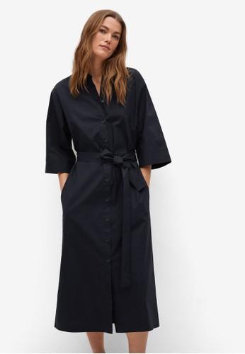 Mango blue Belt Shirt Dress 35337AA8C2A32AGS_1