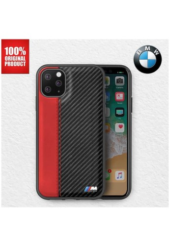 """BMW red BMW - Leather Carbon Contrast Stripe - Case iPhone 11 Pro 5.8"""" - Red 87B48ESFDF8E2FGS_1"""