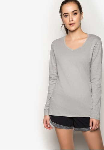 Champion grey Jersey Long Sleeve Tee CH632AA27REMPH_1