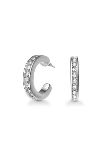 Mestige 銀色 Crescent Cuff Earrings with Swarovski® Crystals EB477AC74E38F3GS_1