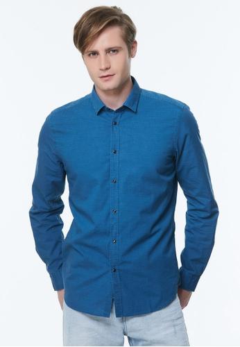 Sisley blue Slim Fit Shirt AA94BAA765C9A3GS_1