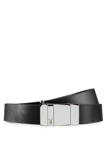 Playboy black and brown Playboy 35mm Reversible Belt PL371AC0SK1OMY_1