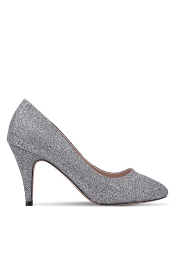 Dorothy Perkins grey and silver Pewter Glitter 'Claudia' Court Heels DO816SH0S4TCMY_1