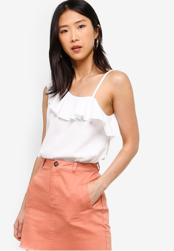 ZALORA BASICS white Basic One Shoulder Top E2206AA1777214GS_1