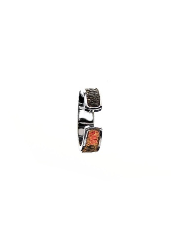 CSHEON SILVER RING ORANGE BLACK STING RAY GENUINE LEATHER 422DBAC5CCE7E7GS_1