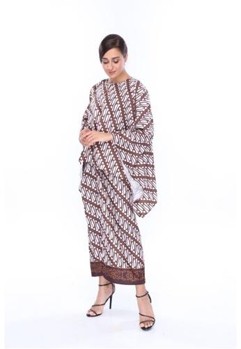 Amar Amran brown Kaftan Batik Parang EE18FAAA82D042GS_1