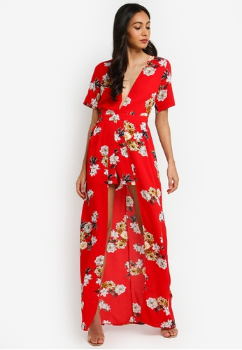 d92dbb35a3b Shop MISSGUIDED Crepe Floral Playsuit With Maxi Overlay Online on ZALORA  Philippines