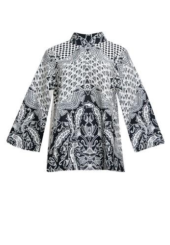Danar Hadi black Blouse Batik Print Motif Ron Pakis Limaran 831A8AA622D320GS_1