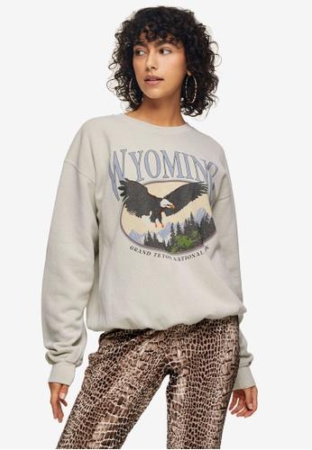 TOPSHOP white Wyoming Sweatshirt 08950AA57BA30DGS_1
