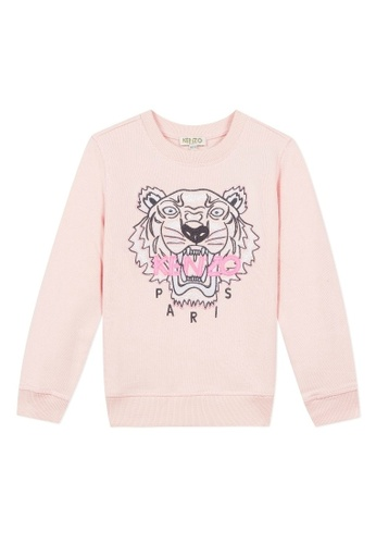 KENZO KIDS pink KENZO TIGER SWEATSHIRT FOR GIRLS 3C661KAA3E4023GS_1