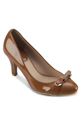 蝴蝶結esprit taiwan漆皮高跟鞋, 女鞋, 高跟鞋