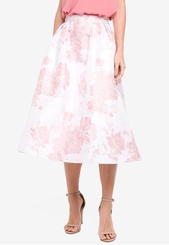 Dorothy Perkins pink Pink Jacquard Prom Skirt C9C2BAA2788C51GS_1