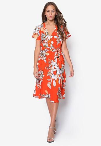花卉裹飾及膝洋裝,esprit cn 韓系時尚, 梳妝