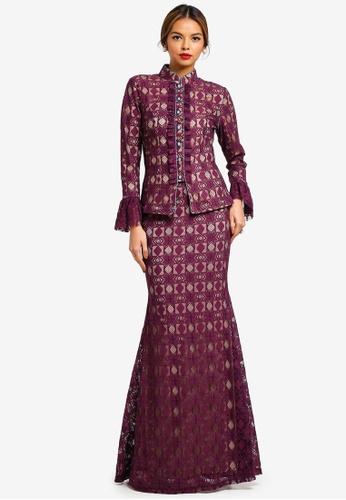 Syomirizwa Gupta for ZALORA purple ISABEL Modern Kebaya 3DFEEAA8CEB275GS_1