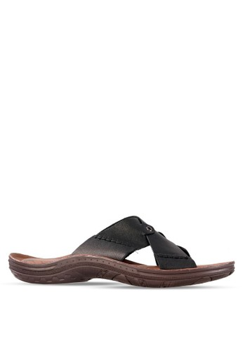 Tony Perotti black Tony Perotti Sandal Ansel - Black TO890SH0VNHMID_1