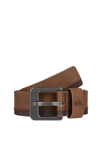 Quiksilver brown Binge Faux Leather Belt 55BB5AC5FB90BCGS_1