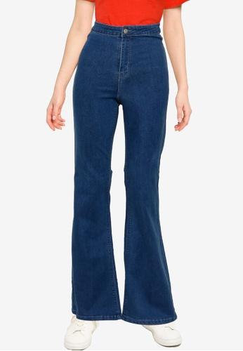 Public Desire blue 70'S High Waisted Flare Jeans 82B48AA91E5624GS_1