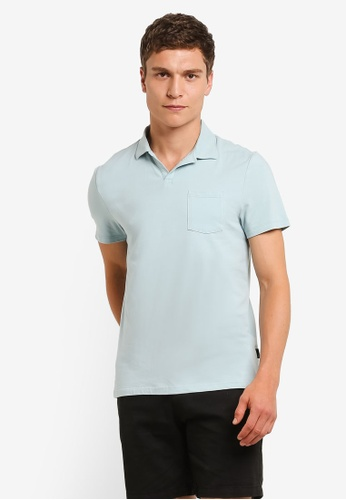 Burton Menswear London green Mint Resort Collar Polo Shirt BU964AA0RM6VMY_1