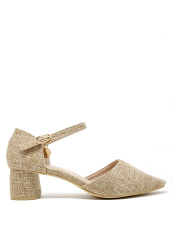 Twenty Eight Shoes beige Tweed Mid Heel 1802-1 EE117SH1E28214GS_1