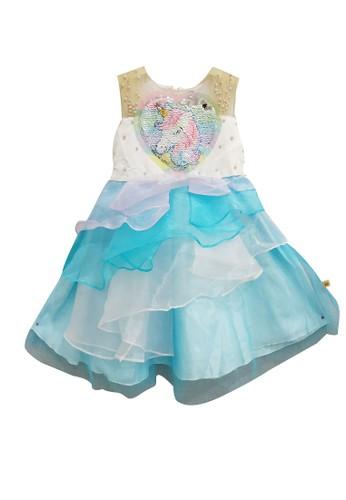 Princessa Flami white and multi Dress Anak Unicorn 1841 A0487KADBFFD71GS_1