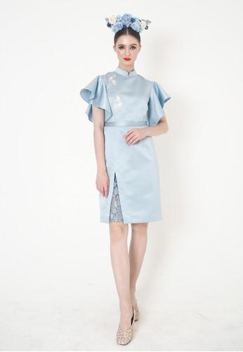 ESYE blue Samantha Cheongsam Dress Blue A3A00AA941FA90GS_1