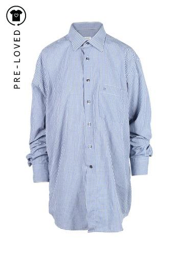 Cacharel blue Pre-Loved cacharel Blue Vichy Printed Shirt DDAB7AAFC6626BGS_1