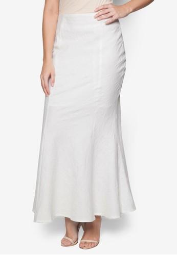 美人魚尾zalora 泳衣長裙, 服飾, 長裙