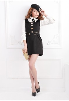 O-Neck Sleeveless Straight Dress