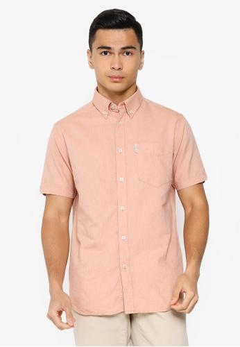 Ben Sherman orange Signature Gots Organic Oxford Shirt D998EAA0F4719DGS_1
