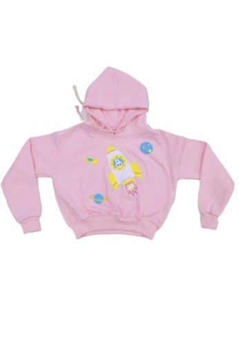 TODDS & POPS pink Astro Bunny Baby Pink Crop Top 0A186KA620F289GS_1