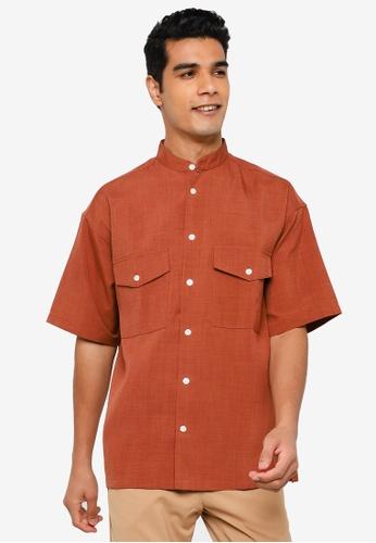 RAGEBLUE brown Casual Woven Shirt 8706CAA979D032GS_1