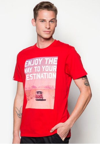 圖案zalora 衣服評價文字圓領Tee, 服飾, 印圖T恤