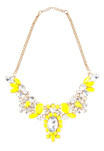 Zolace yellow and multi and gold Radiating Luxury Necklace ZO350AC25ANQMY_1