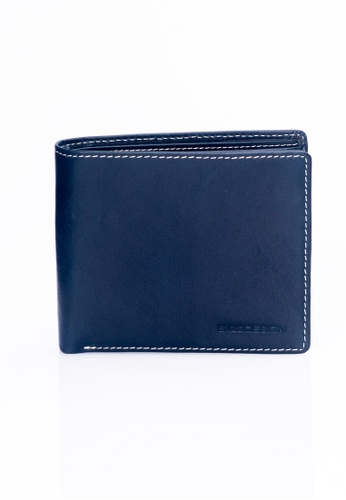 ENZODESIGN navy Italian Leather Coin Box Wallet EN115AC62ZTXPH_1