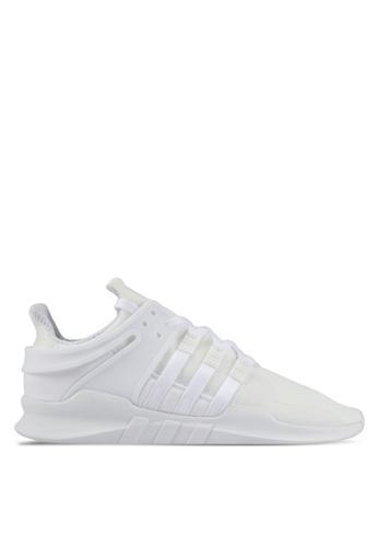 adidas white adidas originals eqt support adv AD372SH0SHYZMY_1