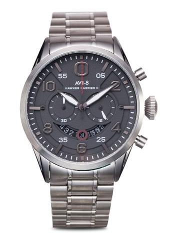 Hawker esprit 床上用品Harrier II 不銹鋼大圓錶, 錶類, 奢華型