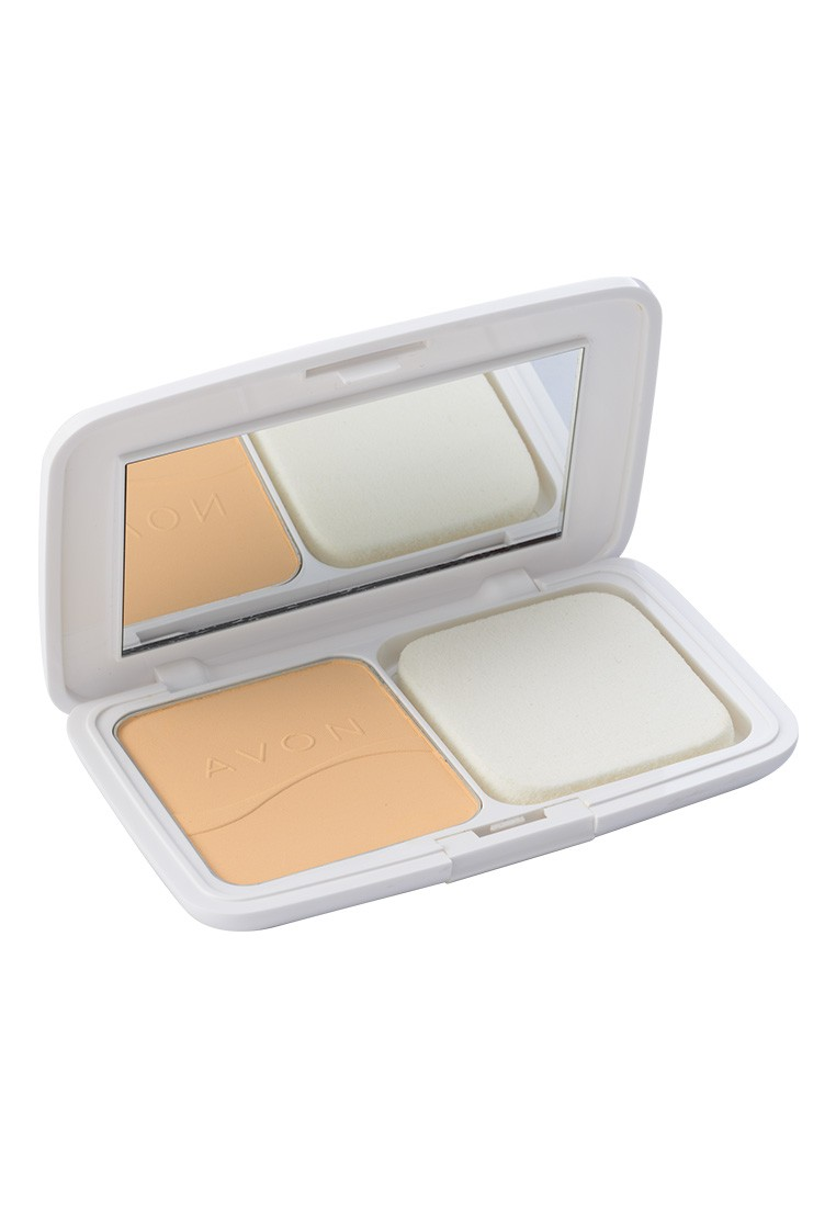 Avon Color Ideal White Dual Powder Foundation in Beige Ochre